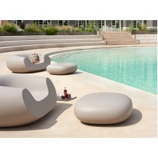 Sedie Modulari illuminate - CHUBBY LOW Pouf cm.85x75 h.30 DOVE GREY