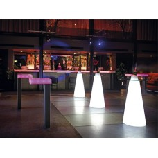 Tavoli illuminati - PEAK High Table Lighted diam.70 h.120 MILKY WHITE - Slide