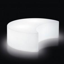 Sedie Modulari illuminate -  MOON cm140x109 h43  MILKY WHITE - Slide
