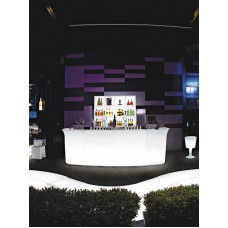 Bancone da Bar illuminato - JUMBO BAR Lumin. cm.90x80 h.110 LIGHT WHITE - Slide