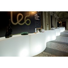 Bancone da Bar illuminato - SNACK BAR Lumin. cm.165x60 h.100 LIGHT WHITE - Slide