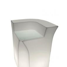 Bancone da Bar illuminato - Piano di Lavoro in Vetro per JUMBO CORNER - Slide