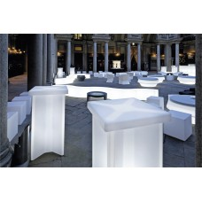 Tavoli illuminati - Tavolo X2 cm.60x60 h.110 LACQ.IRON GREY - Slide