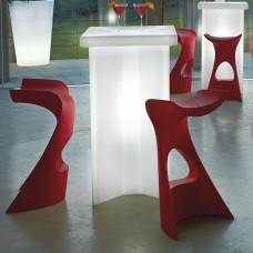 Tavoli illuminati - Tavolo X2 cm.60x60 h.110 LACQ.FLAME RED