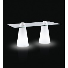 Tavoli illuminati - DOUBLE PEAK cm 180 x 80 h 120 LIGHT WHITE - Slide