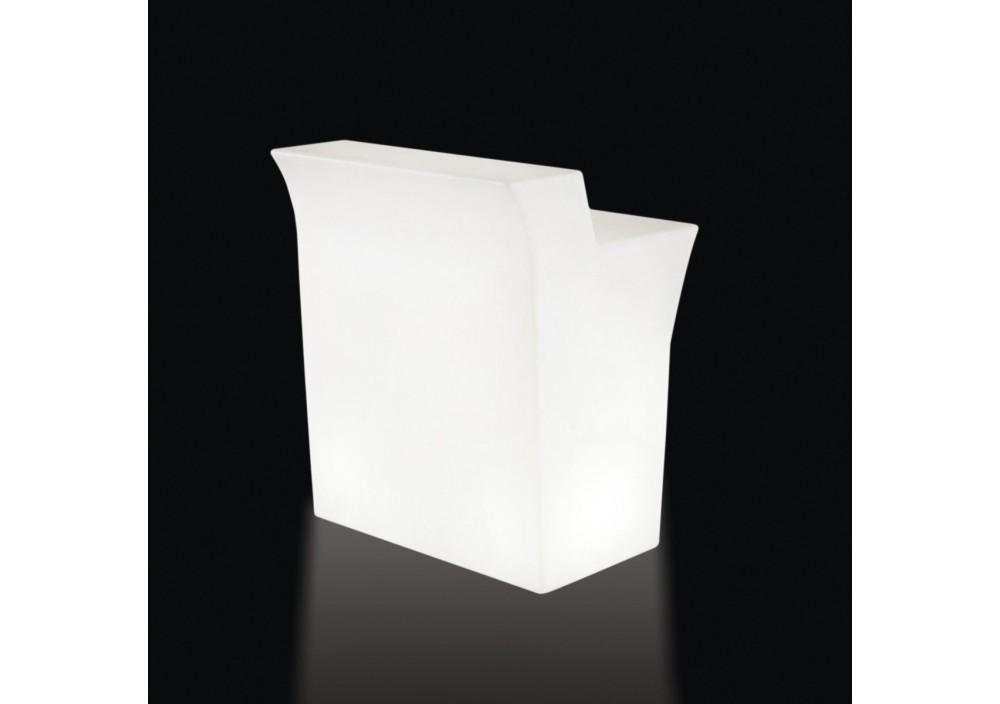 Bancone da Bar illuminato - Piano lavoro in acciaio per JUMBO BAR 42 x 90 h 0.1 - Slide