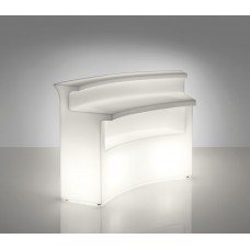 Bancone da Bar illuminato - Piano in Vetro SUPERIORE per BREAK BAR cm167x45xh.0.60 - Slide