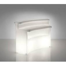 Bancone da Bar illuminato - Piano lavoro in acciaio per BREAK BAR cm172 x 60 h 0.1 - Slide