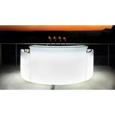 Bancone da Bar illuminato - Piano superiore in acciaio per BREAK BAR cm167 x 45 h 0.1 - Slide