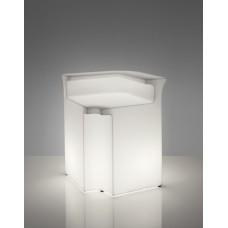 Bancone da Bar illuminato - Piano lavoro in acciaio per BREAK CORNER cm.42 x 42 x h.0.1 - Slide
