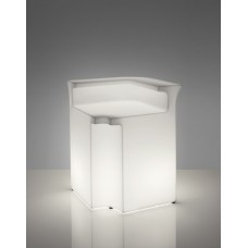 Bancone da Bar illuminato - Piano superiore in acciaio per BREAK CORNER cm.82 x 82 x h.0.1 - Slide