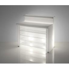 Bancone da Bar illuminato - Piano lavoro in acciaio per BREAK LINE cm.119 x 55 h 0.1 - Slide