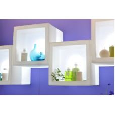 Espositore illuminato - Lampada OPEN CUBE cm 73x73x73  LIGHT BLU - Slide