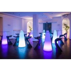 Tavoli illuminati - PEAK Table Lighted diam.70 h.50 LIGHT FUCHSIA - Slide