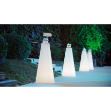 Tavoli illuminati - PEAK Table Lighted 80x80 Quadr. h.50 LIGHT WHITE - Slide