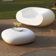 Sedie Modulari illuminate - CHUBBY LOW Pouf cm.85x75 h.30 LIGHT WHITE