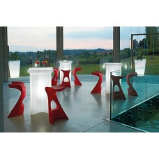 Tavoli illuminati - Tavolo X2 cm.60x60 h.110 MILKY WHITE - Slide