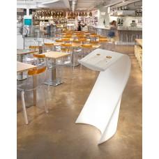 Leggio Illuminato - SWISH Leggio  62 x 62 x h 120 cm  LACQ.METALLIC SILVER MATT - Slide