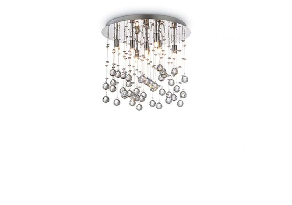LAMPADA DA SOFFITTO 8 LUCI - Ideallux - MOONLIGHT_PL8_CROMO