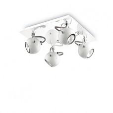 LAMPADA DA SOFFITTO 4 LUCI - Ideallux - LUNARE_PL4_BIANCO