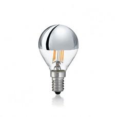 LAMPADINA LED - Ideallux - LAMPADINA_CLASSIC_E14_4W_SFERA_CROMO_3000K