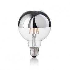 LAMPADINA LED - Ideallux - LAMPADINA_CLASSIC_E27_8W_GLOBO_D95_CROMO_3000K