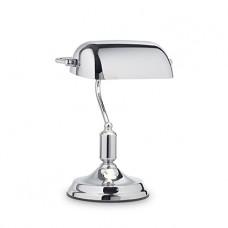 LAMPADA DA TAVOLO 1 LUCE - LAWYER_TL1_ALL_CHROME
