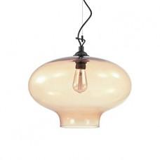 LAMPADA A SOSPENSIONE 1 LUCE - Ideallux - BISTRO_SP1_ROUND_AMBRA