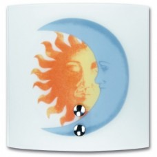 - APPLIQUE SOLE LUNA 21X20 BIANCA 1XE27