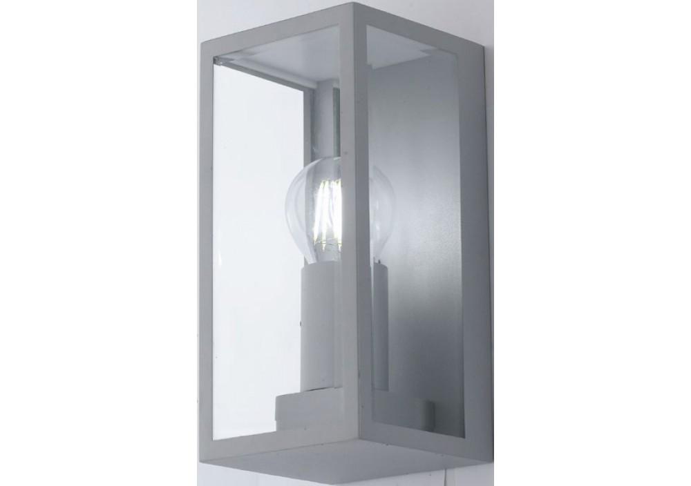 Applique mondrian silver vetro trasparente 1xe27 ip44 intec