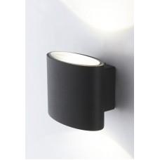- APPLIQUE BOXTER LED NERO 2X4W 700LM 4000K IP44 - INTEC