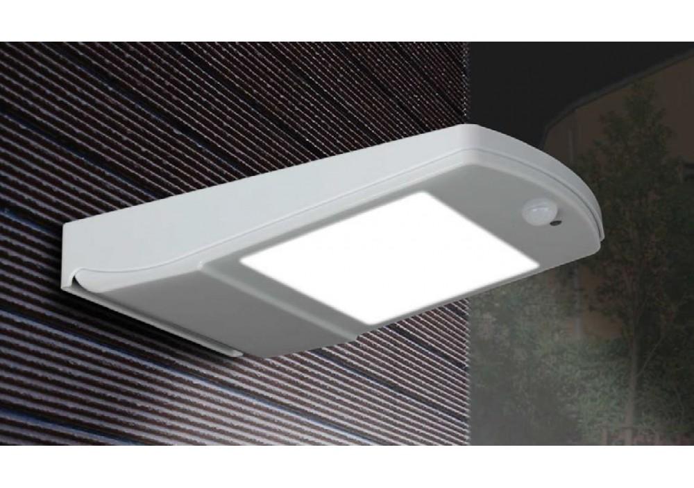 Applique eos led grigio con sensore e pannello solare w lm