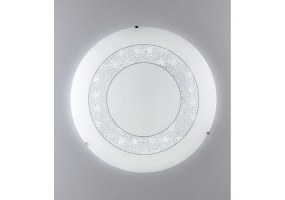 Plafoniera Cristallo Led : Plafoniera led diadema bianca con cristalli w k