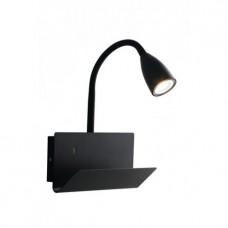 APPLIQUE GULP NERO USB 1XGU10 23X49X27CM - Fan Europe - I-GULP-AP NER