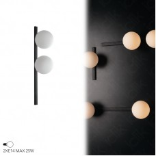 APPLIQUE ENOIRE NERO 2XE14 14X60X16,5CM - Fan Europe - I-ENOIRE-AP2