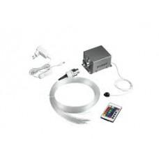 - KIT 100 FILI FIBRA OTTICA CIELO STELLATO LED RGB+BIANCO 9W 230V CON TELECOMANDO