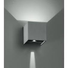 - APPLIQUE ALFA LED SILVER 2X3W 500LM 3000K IP54 - INTEC