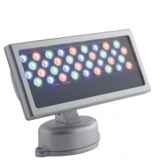 - PROIETTORE RAYS LED ALLUMINIO COLLEGABILE A DMX 36X1W RGB 45° IP65 - INTEC