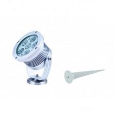 - PROIETTORE IRIDE LED ALLUMINIO CON PICCHETTO 6X3W RGB 40° IP65