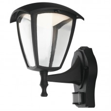 - APPLIQUE LADY LED NERA VERSO LALTO CON SENSORE 12W 800LM 4000K IP44