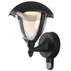- APPLIQUE MEGAN LED NERA VERSO LALTO CON SENSORE 12W 800LM 4000K IP44